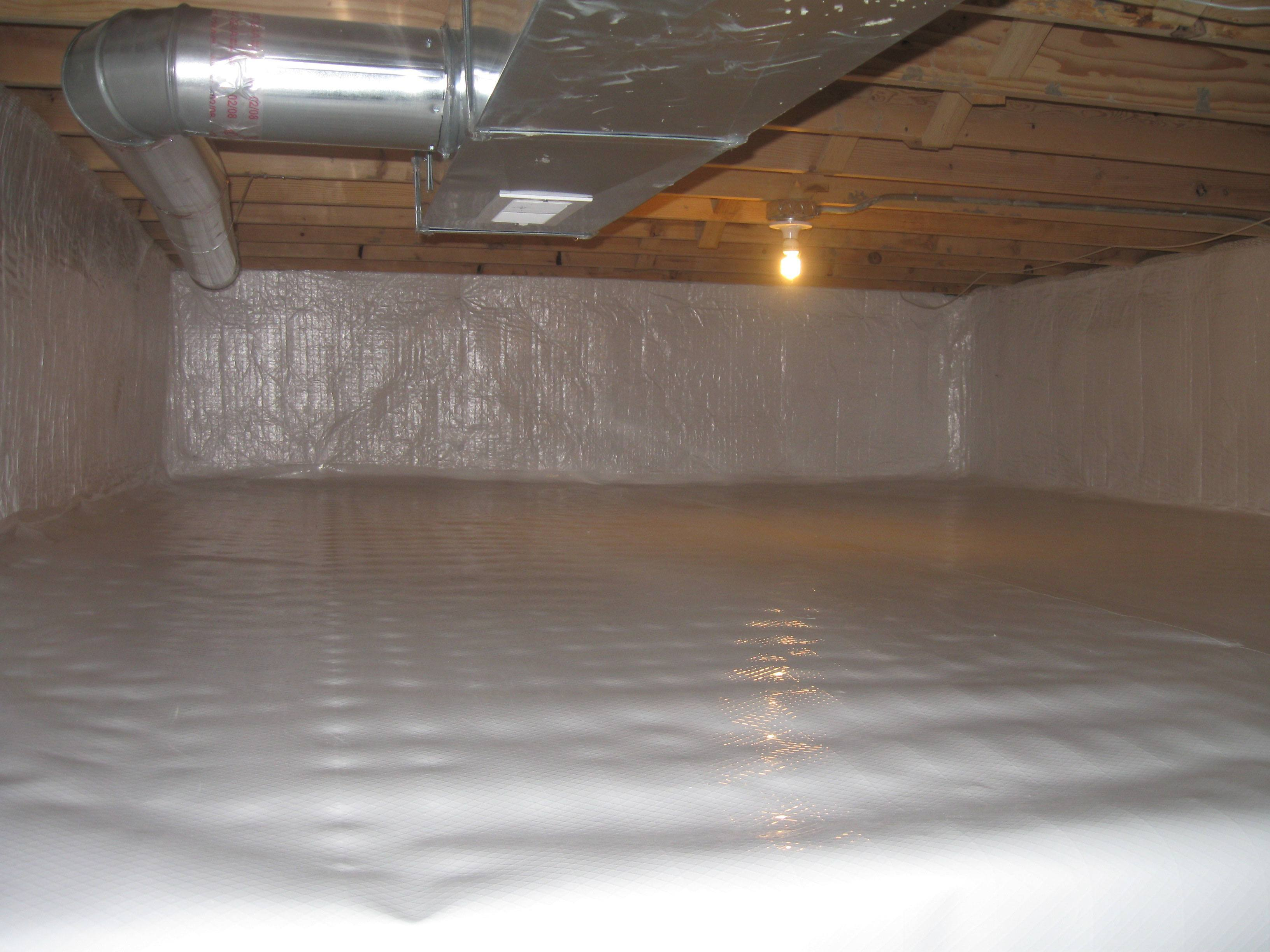 How to seal a chicago crawl space concrete floor or for Concrete crawl space floor