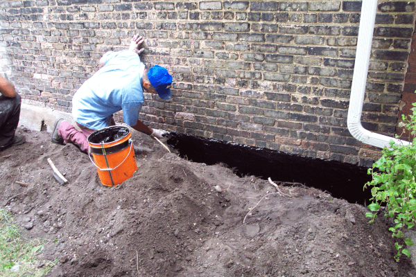 Common Exterior Foundation Waterproofing Membrane Applications