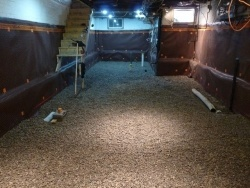 Convert a crawl space to a basement to gain easy square Concrete crawl space floor