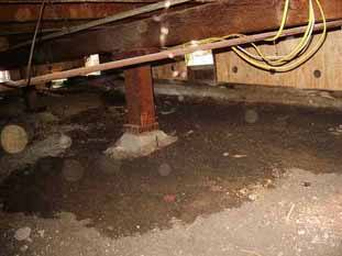 Concrete crawl space floors stop water offer dry storage Concrete crawl space floor