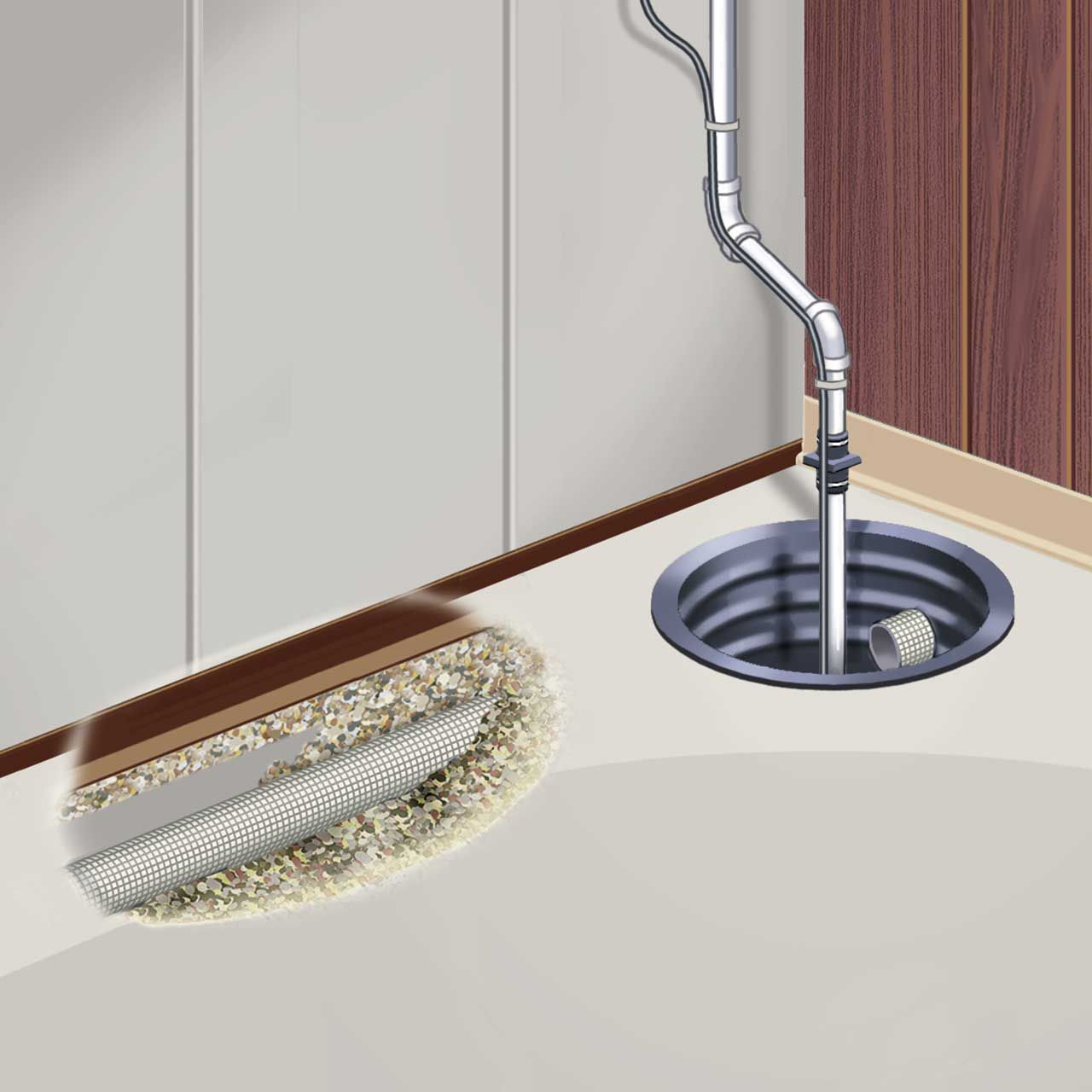 Drain Eze Basement Waterproofing Footing System: Interior Drain Tile System