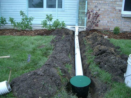 Underground Downspout Extension