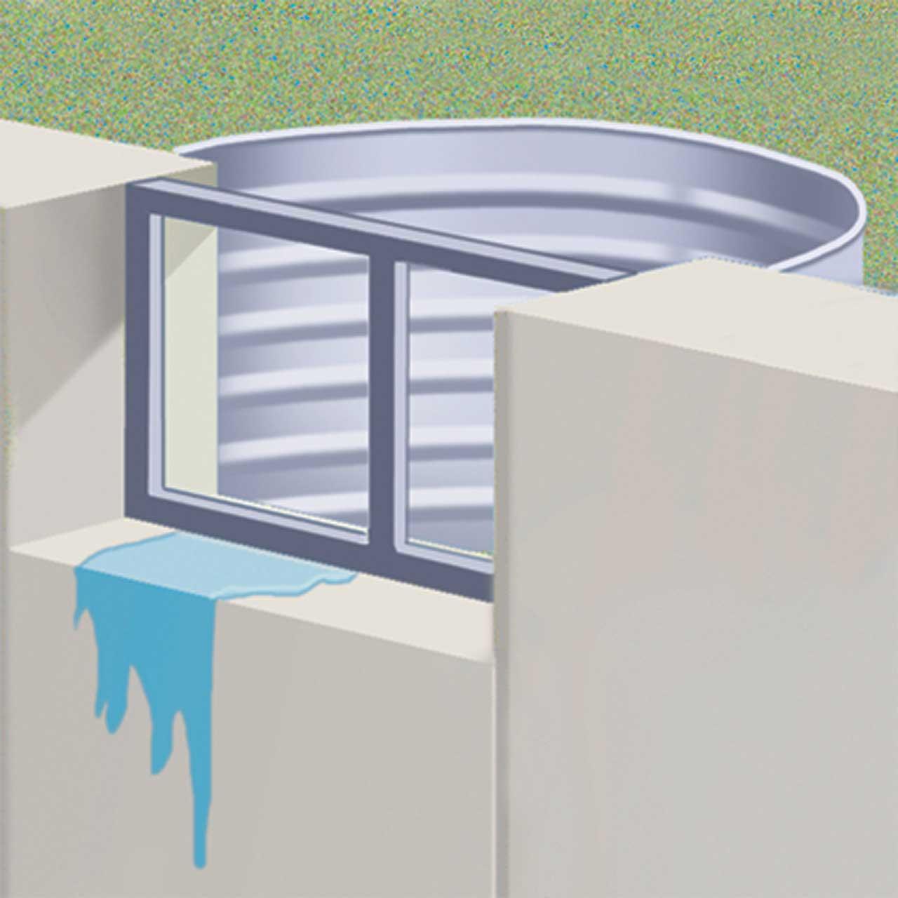Basement Window Wells - Water In Window Well